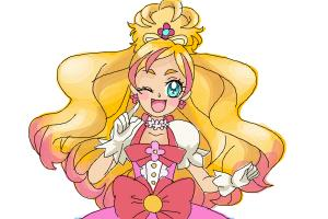 How to draw Cure Flora, Haruno Haruka from Go! Princess PreCure