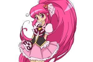 How to Draw Cure Lovely, Aino Megumi from Happiness Charge Precure