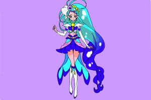 How to Draw Cure Mermaid, Minami Kaido from Go! Princess Precure