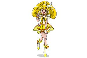 How to draw Cure Peace, Kise Yayoi Smile Pretty Cure!