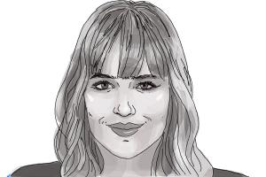 How to Draw Dakota Johnson