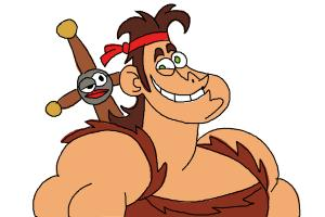 How to Draw Dave from Dave The Barbarian
