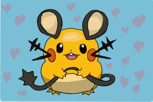 How to Draw Dedenne from Pokemon X And Y
