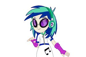 How to draw DJ Pon-3 from My Little Pony Equestria Girls Rainbow Rocks