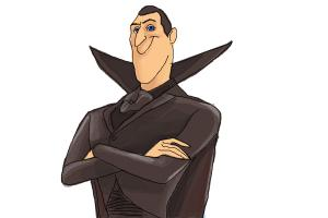How to Draw Dracula from Hotel Transylvania 2