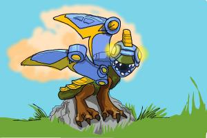How to Draw Drobot  from Skylanders Giants