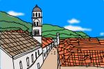 How to draw Dubrovnik Old City