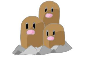 How to Draw Pokemon - Dugtrio
