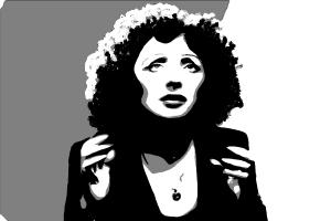 How to draw Édith Piaf