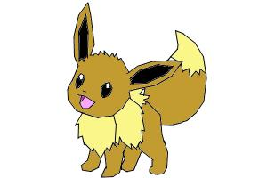 How to draw Eevee the evolution pokemon