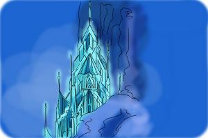 How to draw Elsa's Ice Palace, Ice Castle