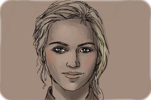 How to Draw Emily Wickersham from Ncis