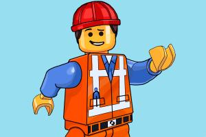 How to Draw Emmet from The Lego Movie