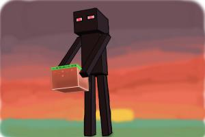 How to draw enderman minecraft