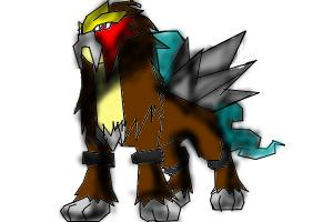 How to draw Entei the Volcano pokemon