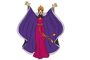 How to draw Evil Queen, Disney Villain