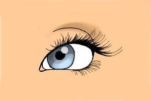 How to draw eyelashes