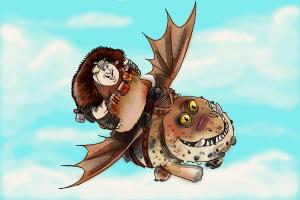 How To Draw Fishlegs And Meatlug From How To Train Your Dragon 2