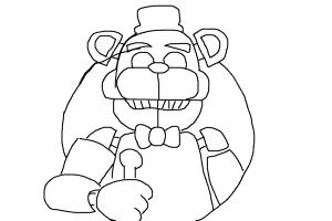 how to draw five nights at Freddy's
