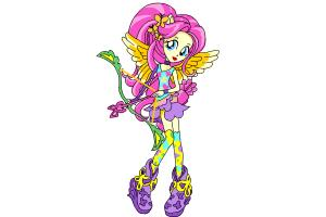 How to Draw Fluttershy from My Little Pony Equestria Girls Friendship Games