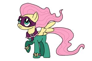 How to Draw Fluttershy, Saddle Rager from Power Ponies