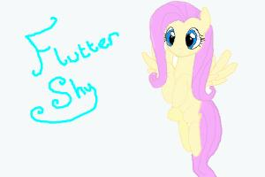 How to draw flying Fluttershy