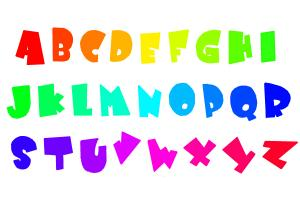 How to Draw Funny Letters With Rainbow Colours