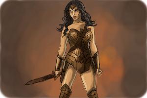 How to Draw Gal Gadot As Wonder Woman from Batman Vs Superman