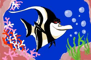 How to Draw Gill from Finding Nemo