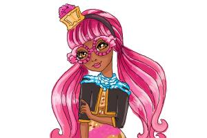 How to draw Ginger Breadhouse, daugther of The Gingerbread Man from Ever After High