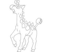 How to draw Girafarig