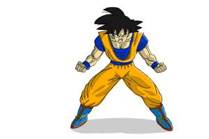 How to draw Goku full body