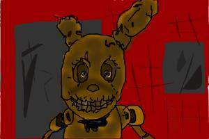 How to Draw Golden Bonnie from Five Nights At Freddy'S 3