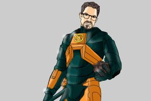 How to draw Gordon Freeman from Half-Life 2