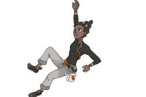 How to Draw Gym Leader Grant from Pokemon X & Y