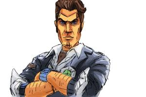 How to draw Handsome Jack from Borderlands 2
