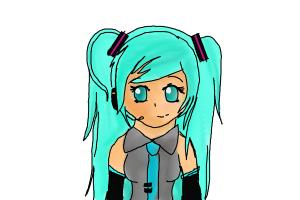 How to draw Hatsune Miku