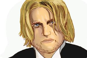 How to Draw Haymitch Abernathy, Woody Harrelson from The Hunger Games