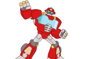 How to draw Heatwave from Transformers Rescue Bots