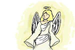 how to draw Heavenly Angel