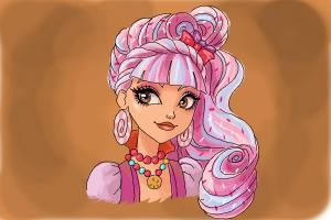 How to draw Helga Crumb, daugther of Hansel from Ever After High