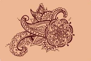 How to draw henna designs