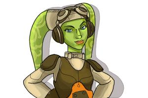 How to draw Hera, the Pilot from Star Wars Rebels