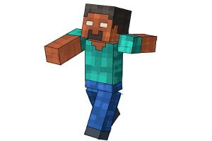 How to draw minecraft step by step easy drawings for kids drawingnow how to draw herobrine from minecraft altavistaventures Image collections
