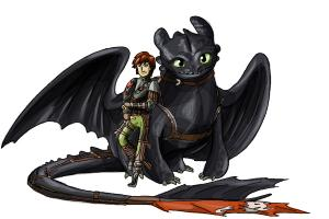 How to Draw Hiccup And Toothless from How to Train Your Dragon 2