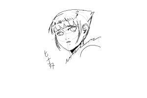 How to Draw Hinata Hyuga