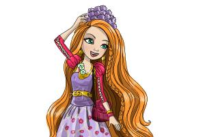 How to draw Holly O'Hair from Ever After High