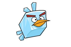 How to draw ice bird