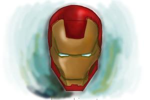 How to Draw Iron Man Mask
