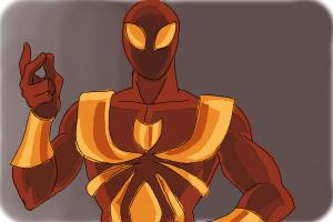 How to Draw Iron Spider Armor